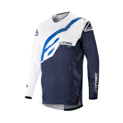 alpinestars - TECHSTAR FACTORY - Jersey - Men's - white/dark navy