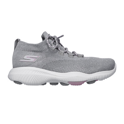 SKECHERS - GO WALK REVOLUTION ULTRA-VENT - Shoes - Women's - silver textile/pink trim