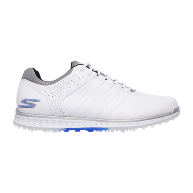 SKECHERS - GO GOLF ELITE 2 - Shoes - Men's - white and grey leather/blue trim