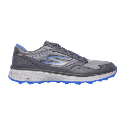 SKECHERS - GO GOLF FAIRWAY - Shoes - Men's - charcoal leather/textile/blue trim
