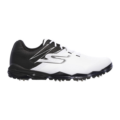 SKECHERS - GO GOLF FOCUS COLLEGIATE - Shoes - Men's - white and black synthetic/trim
