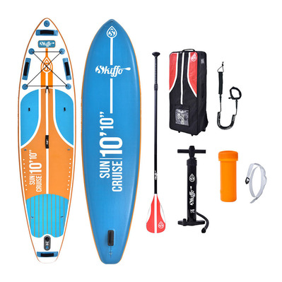 SKIFFO - SUN CRUISE 10'10 - Inflatable SUP Board - blue/orange + Accessories