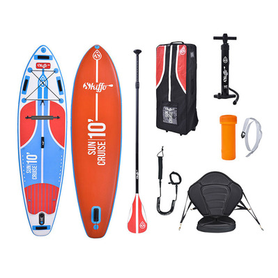 SKIFFO - SUN CRUISE PLUS 10' - Inflatable SUP Board - blue/red + Accessories