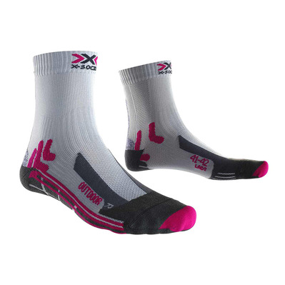 XSOCKS - X Socks TREK OUTDOOR 4.0 - Socks - Women's - grey/fuchsia