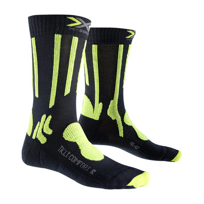 XSOCKS - X Socks TREKKING LGT - Socks - anthracite grey/lime
