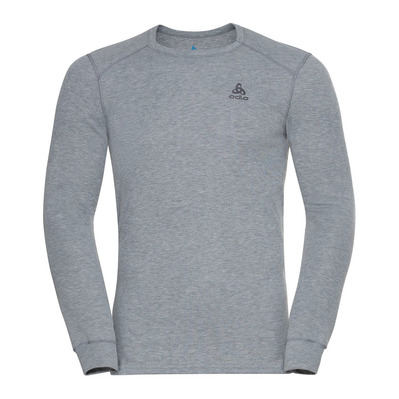 ODLO - BL TOP Crew neck l/s ACTIVE WARM ECO Homme grey melange