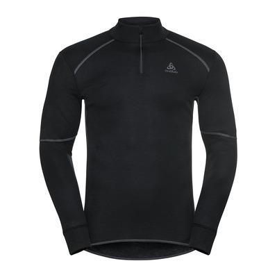 ODLO - BL TOP Turtle neck l/s half zip ACTIVE X Homme black