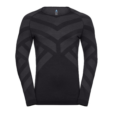 ODLO - BL TOP Crew neck l/s NATURAL + KINSHIP W Homme black melange