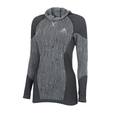 ODLO - BL TOP with Facemask l/s BLACKCOMB Femme black