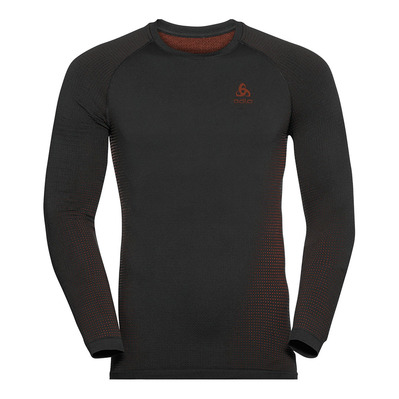 ODLO - PERFORMANCE WARM ECO - Maglia termica Uomo black/orange.com