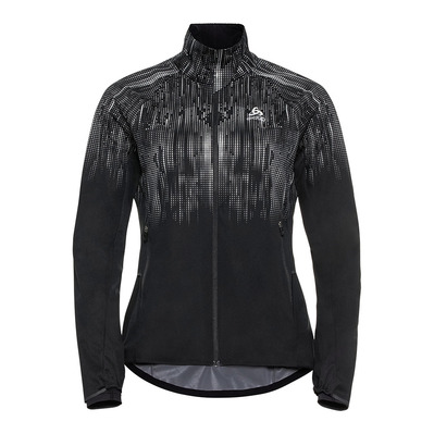 ODLO - Jacket ZEROWEIGHT PRO WARM REFLECT Femme black - reflective graphic FW20