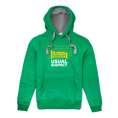 PLAIN LAZY - USUAL SUSPECT - Sweat Homme kelly green