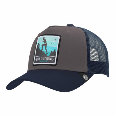 THE INDIAN FACE - BORN TO ULTRATRAIL - Gorra grey/blue