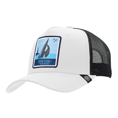 THE INDIAN FACE - BORN TO SAIL - Gorra white/black