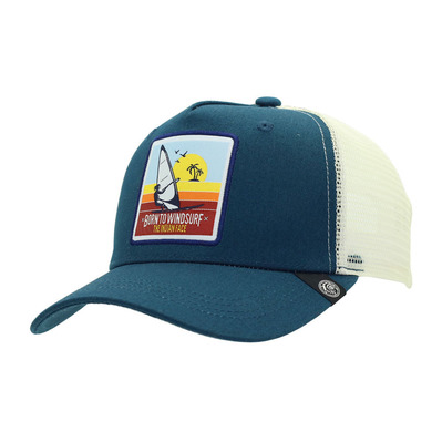 THE INDIAN FACE - BORN TO WINDSURF - Gorra blue/white