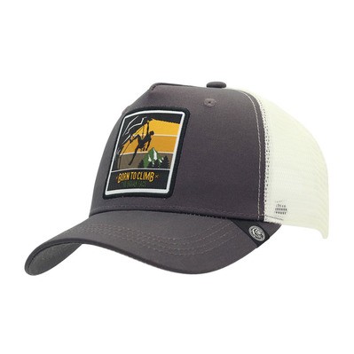 THE INDIAN FACE - BORN TO CLIMB - Gorra grey/white