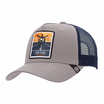THE INDIAN FACE - BORN TO RUN - Gorra grey/blue