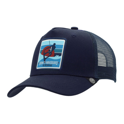THE INDIAN FACE - BORN TO WAKEBOARD - Gorra blue