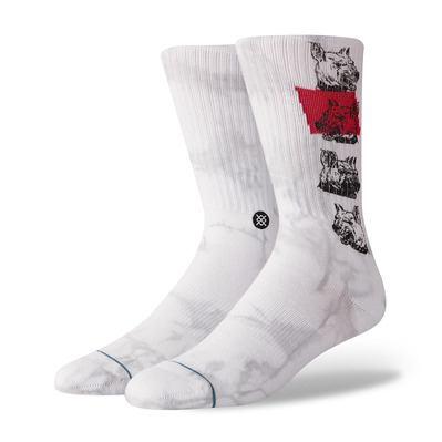 STANCE - BLUE RESPECT THE ELDERS - Calcetines hombre white