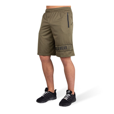 GORILLA WEAR - BRANSON - Short hombre army green/black