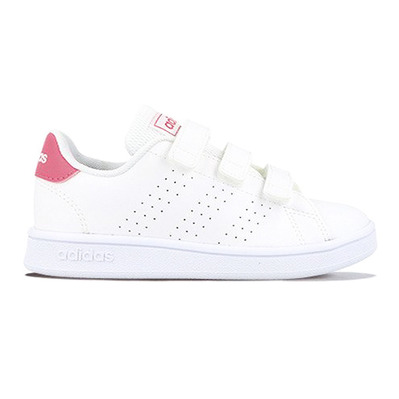 ADIDAS - ADVANTAGE C - Trainers - Junior - white/pink