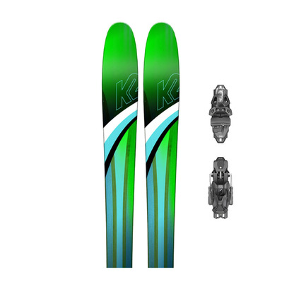 K2 - FULLUVIT 95 TI - All Mountain/Freeride Skis - Women's + Bindings - PRD 12 GW B95 matt black