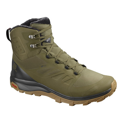 SALOMON - OUTBLAST TS CSWP - Après-Ski Boots - Men's - burnt olive/phantom