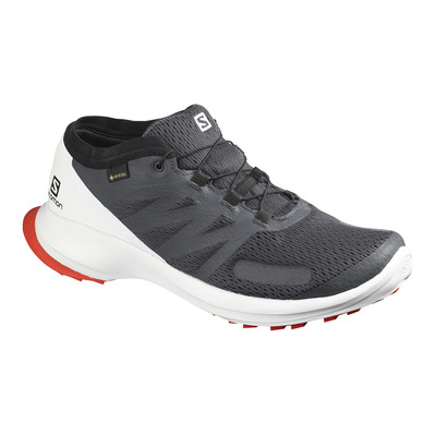SALOMON - SENSE FLOW GTX - Zapatillas de trail hombre india ink/white/cherry