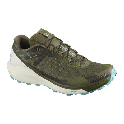 SALOMON - SENSE RIDE 3 - Scarpe da trail Donna olive night/vanilla