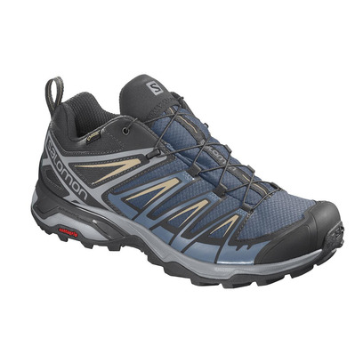 SALOMON - X ULTRA 3 GTX - Hiking Shoes - Men's - dark denim/copen blue/pale khaki