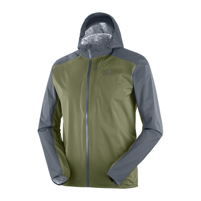 SALOMON - BONATTI WP - Chaqueta hombre ebony/olive night