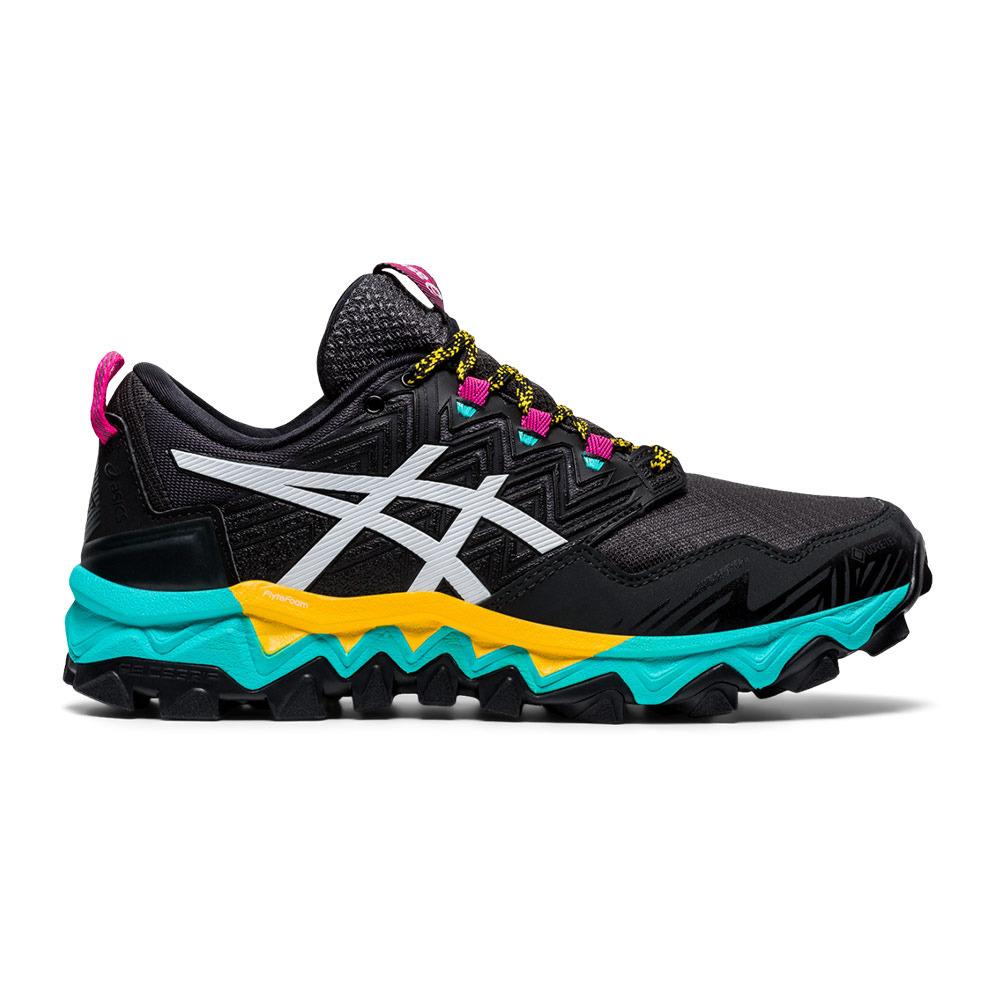 Asics GEL-FUJITRABUCO 8 GTX - Trail Shoes - Women's - black/white ...