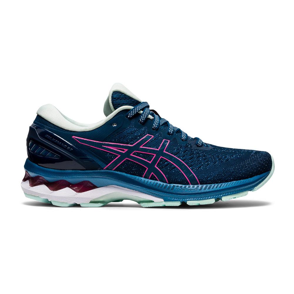 Asics GEL-KAYANO 27 - Chaussures running Femme mako blue/hot pink ...