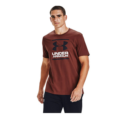 UNDER ARMOUR - GL FOUNDATION - T-shirt Uomo cinna red/black