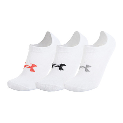 UNDER ARMOUR - ESSENTIAL NO SHOW- Calze x6 Donna white