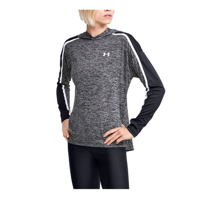 UNDER ARMOUR - Tech Twist Graphic Hoodie-BLK Femme Black/Black/White
