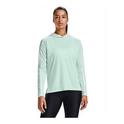 UNDER ARMOUR - TECH TWIST GRAPHIC - Sweat Femme seaglass blue/seaglass blue/white