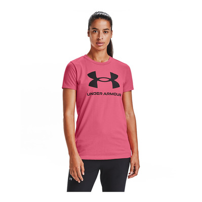 UNDER ARMOUR - LIVE SPORTSTYLE GRAPHIC - Tee-shirt Femme pink lemonade/black