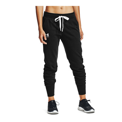 UNDER ARMOUR - Rival Fleece Joggers-BLK Femme Black/White/White