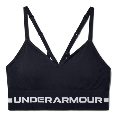 UNDER ARMOUR - SEAMLESS LOW LONG - Brassière Femme black/halo gray