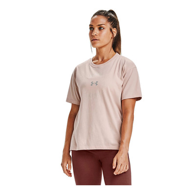 UNDER ARMOUR - Live Fashion WM GraphicSS-BRN Femme Desert Rose/Metallic Silver