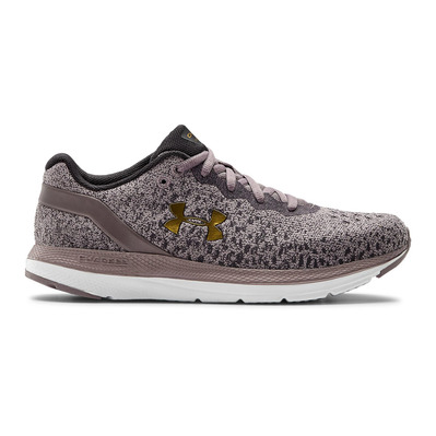 UNDER ARMOUR - CHARGED IMPULSE KNIT - Zapatillas de running mujer slate purple/white/metallic gold luster