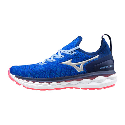 MIZUNO - WAVE SKY NEO - Running Shoes - Women's - reflex blue/silver/pink