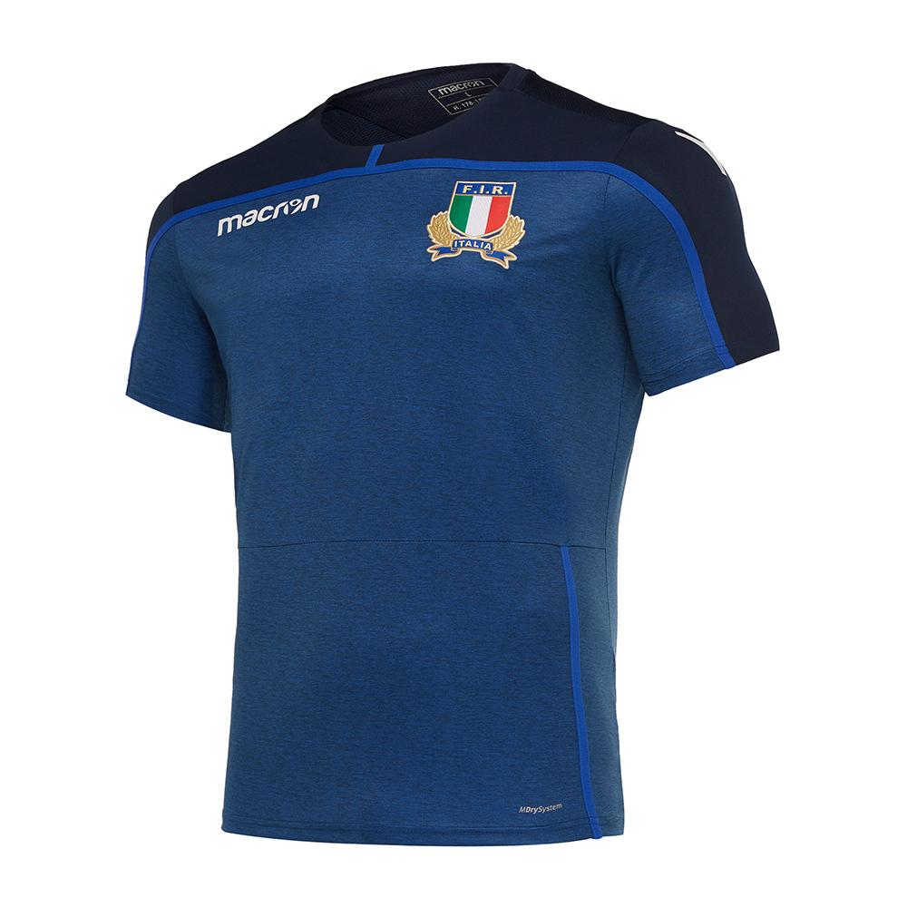 Macron Italian Rugby Federation Macron Fir M18 Training Player Shirt Jersey Men S Dark Blue Private Sport Shop