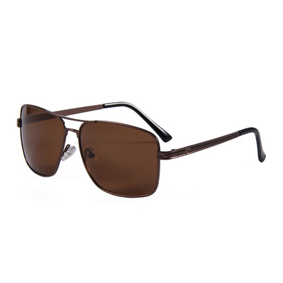 FLUOR - AVIATOR SQUARE - Gafas de sol polarizadas brown/brown smoke