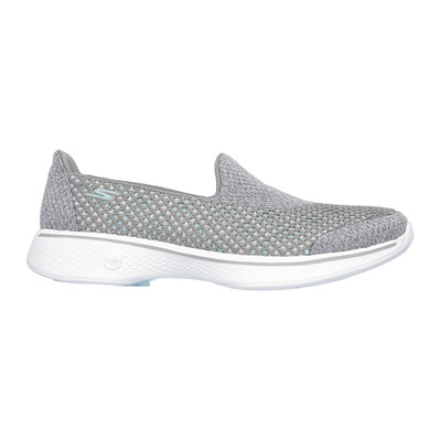 SKECHERS - GO WALK 4 KINDLE - Shoes - Women's - grey textile/trim