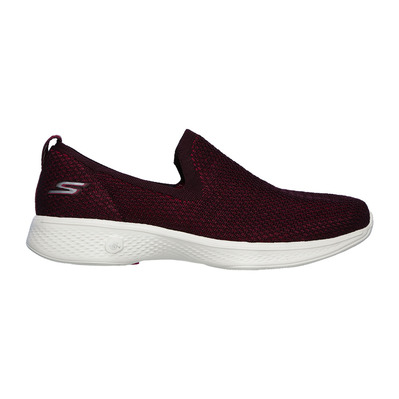 SKECHERS - GO WALK 4-PRIVILEGE - Shoes - Women's - burgundy textile/trim