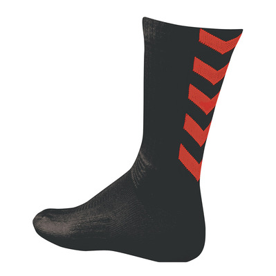HUMMEL - AUTHENTIC INDOOR - Chaussettes noir/rouge