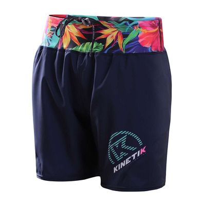 KINETIK - TRAIL - Shorts - Women's - navy tropikal