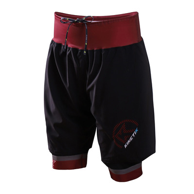 KINETIK - ULTRA TRAIL - Shorts - Men's - burgundy
